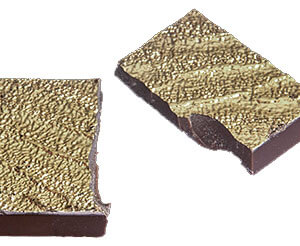 Edible gold coated chocolate bar
